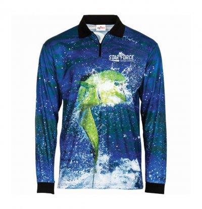 Custom Sublimation Full Sleeve Fishing Polo Shirts