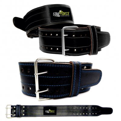 Cowhide Leather Powerlifting Gym Belt