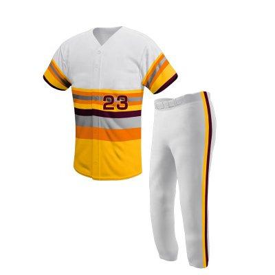 New Sports Wear Custom Baseball Uniforms Sublimation Custom Baseball Jersey and Pant Set