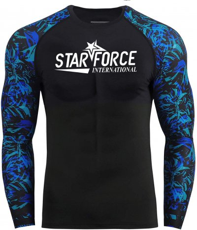 Sublimation Printed Custom Logo Rash Guard MMA  Rashguard Long Sleeve
