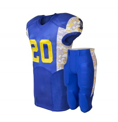 Wholesale Unique Quality Customized  100% polyester American Football Team Uniform