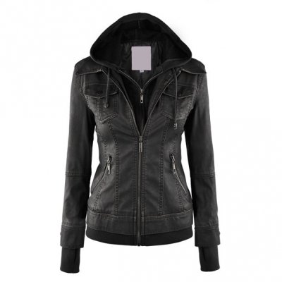 Top Quality 100% PU Leather Selling Women Winter Sheep Leather Jacketep Leather Jacket