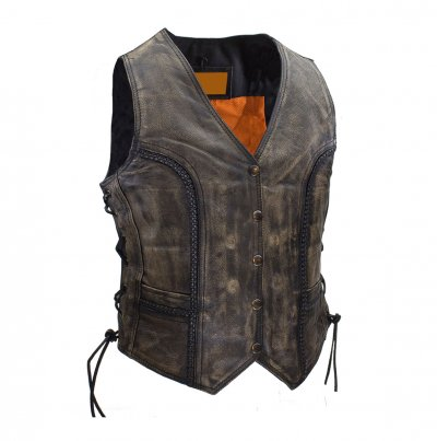 Fashion Leather Autumn and Winter Sheepskin wool Vest Leather Vest