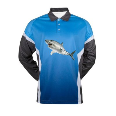 Wholesale Sublimated Top Quality Mens Fishing Polo Shirts vented Fishing Shirts