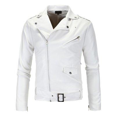 Long Sleeve Winter Use Men Leather Jacket Custom Made Fashion Leathers Jacket