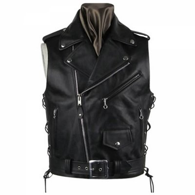 Custom New Fashion Leather Biker Vests For Men wholesale rates