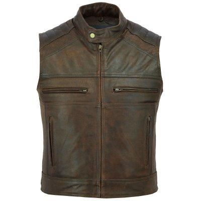 High Quality Stylish Classic Design Original Leather Vest For Men