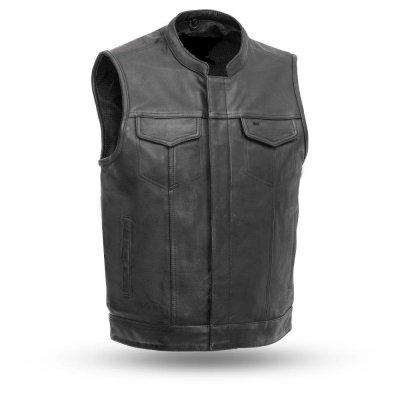 Latest Design Stylish Custom Pattern Leather Vest