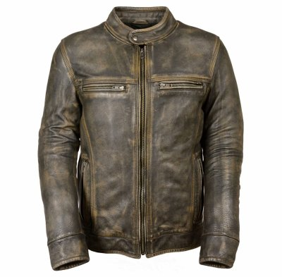 Design Your Own Logo Men Leather Jackets For Sale