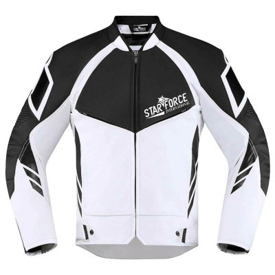 Wholesaler Fashion Men Genuine Leather Jacket with Zippers