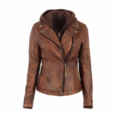 Top Quality 100% PU Leather Selling Women Winter Sheep Leather Jacket